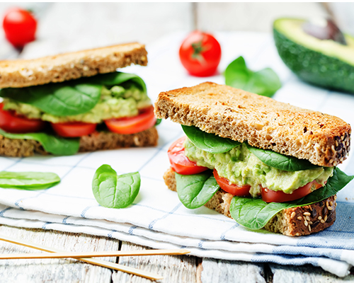 sandwich sur torchon